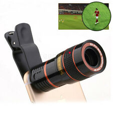 US 8X 12X Zoom Clip-on Phone Camera Telephoto Telescope Lens For iPhone Sam