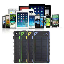 20 LED 8000mAh 2 USB Solar Power Bank Backup External Battery Phone Charger J1K
