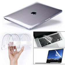 "Glossy Clear Hard Shell Case+Keyboard Cover MacBook Air 11"" Pro 13/15"" Reti"
