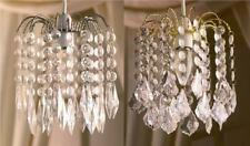 Clear Acrylic 2 Tier Crystal Pear Droplet Pendant Chandelier Ceiling Light Shade