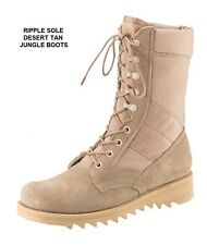 Desert Tan 10 In RIPPLE SOLE Jungle Boots Military SWAT Army Navy USAF USMC