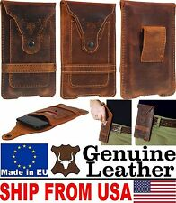 # FOR PHONES WITH ARMOR COVER - BULL'S HEAD GENUINE LEATHER POUCH & CARD PO
