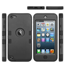 Full Protection [Heavy Duty] Hybrid Hard Soft Armor Case for iPod Touch iPh
