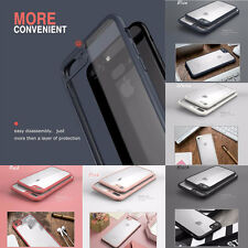 Bumper+ PC Soft Silicone TPU Clear Back Case Cover Skin For Apple iPhone 6/