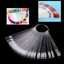 50x False Display Nail Art Fan Wheel Polish Practice Tip Sticks Nail Art New QQ