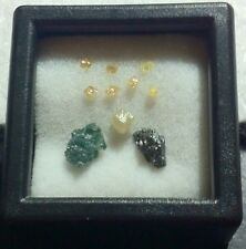 NATURAL FANCY COLOR RAW MIXED AFRICAN DIAMOND LOT (10 LOOSE)   GENUINE!!!!  L48
