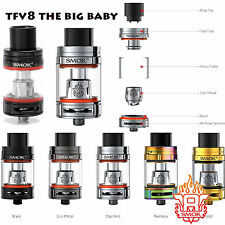 Genuine New SMOK TFV8 THE BIG BABY BEAST Tank & Coils New Vape v8 x4 t6 Rba