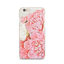 Pink Floral Flower Design Silicone Rubber Gel Case For IPhone 4S 5S 6S 7+