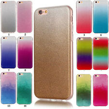 Gradient Glitter Silicone Soft TPU Bling Case Cover Back For iPhone 7 Plus
