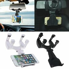 Universal Car Rearview Mirror Mount Stand Holder Cradle For Mobile Phones &