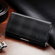 For Smart Phone Premium Wavy Horizontal Pouch Case Cover w/ Holster Belt Cl