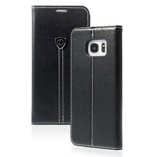 PU Leather Black Flip Wallet Cover Case for Samsung Galaxy S7 /Edge Phone