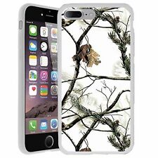 [For iPhones] Ultra Lightweight Flexible Case with White Snow Camo Design