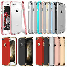 Hybrid Clear Back Metal Shockproof TPU Case Cover for Apple iPhone 5 6 6S 7