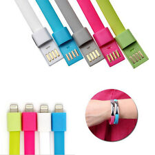 Bracelet Wrist Band 8 Pin USB Charger Charging Data Sync Cable For iPhone 6