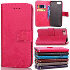 Luxury Floral Leather Wallet Protective Case Stand Hard Cover For iPhone 5