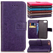 Shockproof Thin Leather Flip Stand Card Wallet Case For Apple iPhone 6 6s P