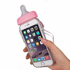 Cute 3D Baby Nipple Milk Bottle TPU Clear Gel Skin Case Cover For iPhone 5