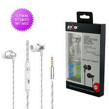 High Definiton Sound 3.5mm M300 Stereo Earbuds Earphones Headphones - White