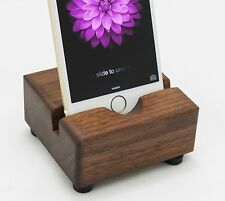 3 stands - iPhone 6 Docking Station - Black Walnut iPhone Wood Stand