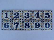 Tile House Numbers Ceramic Talavera Mexican Number Decor Home