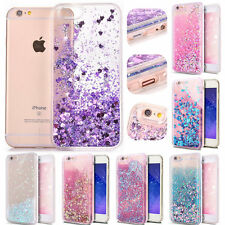 For iPhone 7 6 Plus 5S Case,Dynamic Flowing Liquid Glitter Quicksand Bling