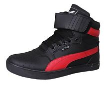 West Code Mens Shoes Online Synthetic Leather Casual Shoes 7071-Black-Red shoes