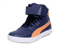 West Code Mens Shoes Online Synthetic Leather Casual Shoes 7071-Blue-Orange