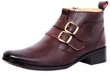 Zoom Shoes For Mens Genuine Leather Formal Shoes G-70-Brown