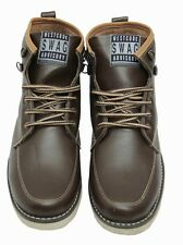 West Code Shoes For Mens online Boots Synthetic Leather Casual Shoes 7082-Brown