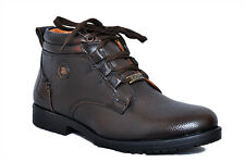 Zoom Mens Shoes Genuine Leather Boots Formal Shoes D-3571-Brown