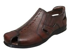 Zoom Shoes Buy Mens Sandal Genuine Leather Sandal D-1260-Brown Sandal