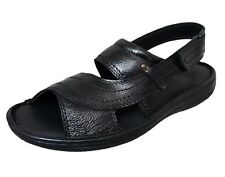 Zoom Shoes Buy Mens Sandal Genuine Leather Sandal D-021-Black Sandal