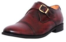 Zoom Mens Hign Ankle Genuine Leather Formal Shoes B-47-Brown Online Shoes