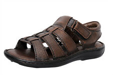 Zoom Men's Sandal Online Genuine Leather Sandal D-1171-Brown Sandal-