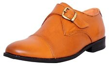 Zoom Mens Hign Ankle Genuine Leather Formal Shoes B-47-Tan Online Shoes