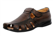 Zoom Men's Sandal Online Genuine Leather Sandal D-1215-Brown Sandal -