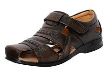 Zoom Mens Sandal Online Genuine Leather Sandal D-1271-Brown Sandal -