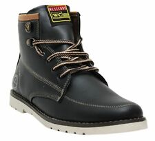 West Code Shoes For Mens online Boots Synthetic Leather Casual Shoes 7082-Black