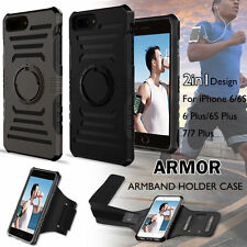 2 in1 Running Jogging Armband Holder Sports Hybrid Case Cover For iPhone 7/