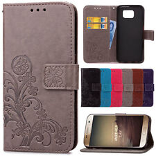 Magnetic Flip Stand Leather Card Cover For Samsung Galaxy Note 5 4 3 Phone