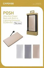 CAPDASE Ultra Slim 3200 mAh power bank with built-in lightning cable for iP