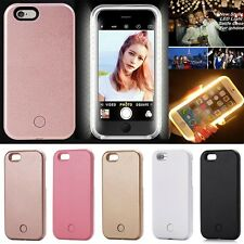 LED Light Up Selfie Luminous Phone Back Cover Case For iPhone 6 6s Plus 7 7