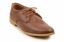 Quarks Brown Casual Laser Cut Lace Up For Men (Q1075BR)