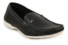 Quarks Black Classic Loafers For Men (Q1069BK)