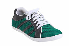 Quarks Men's Stylish Casual Green Mesh Shoes - Green Color - Q1058GN