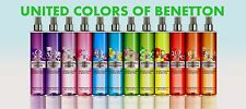 UNITED COLORS OF BENETTON Mist refreshing for body 250ml CHOICE OF 4 DIFFERENT