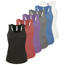 3 Pack Womens Ladies Vests Cami Sleeveless Top T-shirt Rib Stretch Tank Top Gym