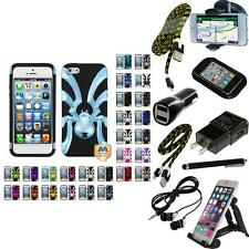 For Apple iPhone 5/5S/SE Hybrid IMPACT Spider Bug  Hard Soft Case Cover + B