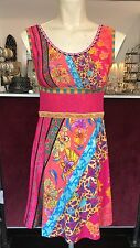 SAVE THE QUEEN NS BRIGHT PINK BASED PRINT DRESS S,M,L,XL